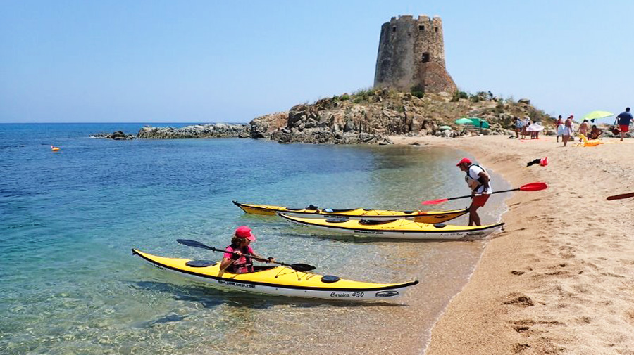 Kayak courses in Sardinia